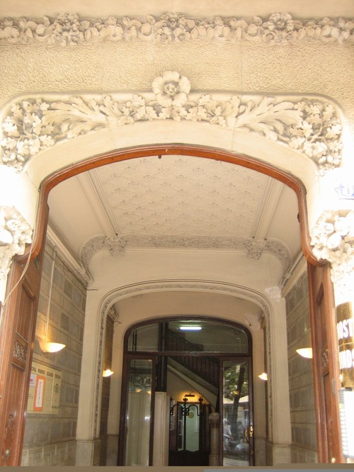 barcelona building detail